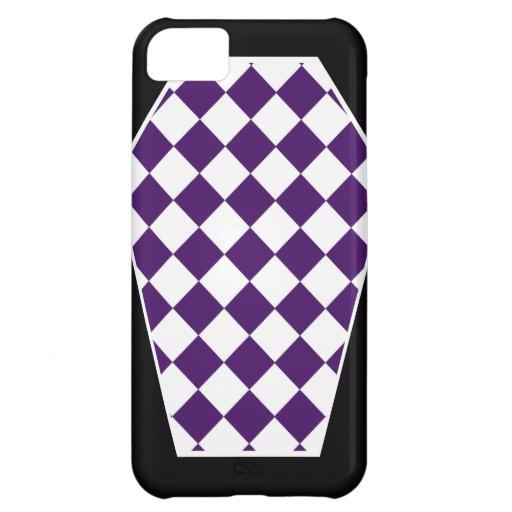 Coque iphone d'ivoire de Damier (indigo) Coques Pour iPhone 5C