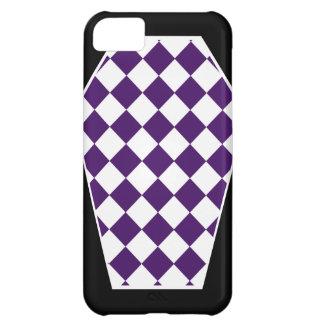 Coque iphone d'ivoire de Damier (indigo) Coque iPhone 5C