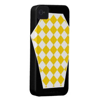 Coque iphone d'ivoire de Damier (or) Coques Case-Mate iPhone 4