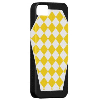 Coque iphone d'ivoire de Damier (or) Étuis iPhone 5