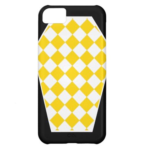 Coque iphone d'ivoire de Damier (or) Étuis iPhone 5C