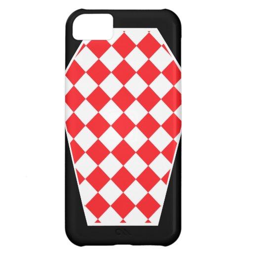 Coque iphone d'ivoire de Damier (rubis) Étuis iPhone 5C