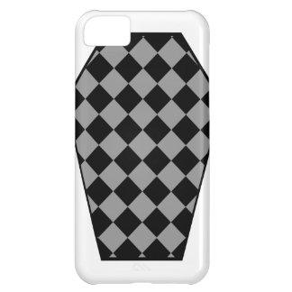 Coque iphone (gris) de bois d'ébène de Damier Coque iPhone 5C