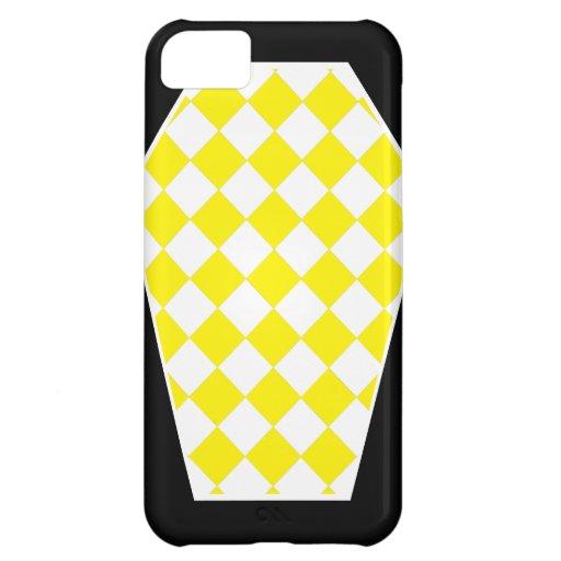 Coque iphone (jaune) d'ivoire de Damier Coque Pour iPhone 5C