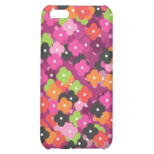 Coque iphone mignon de motif de fleur coques iPhone 5C