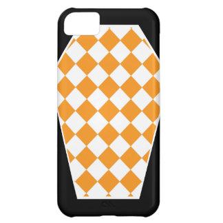 Coque iphone (orange) d'ivoire de Damier Coque iPhone 5C