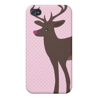 Coque iphone rose mignon de cerfs communs coques iPhone 4