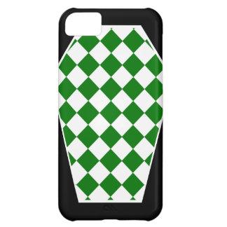 Coque iphone (vert) d'ivoire de Damier Étui iPhone 5C