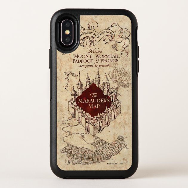 Coque OtterBox Pour iPhone Harry Potter Spell  Carte de Marauder   Zazzle.ca