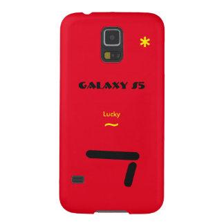 Coque Pour Samsung Galaxy S5 Caisse rouge de Samsung S5 7 chanceux