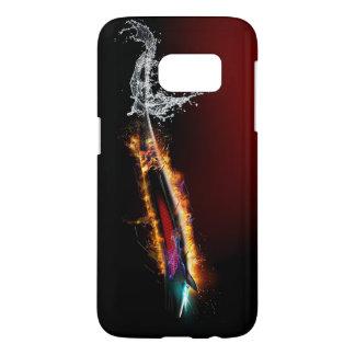 Coque Samsung Galaxy S7 background_shiny_burst_colorful_figure_