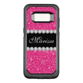 Coque Samsung Galaxy S8 Par OtterBox Commuter Noir rose élégant de parties scintillantes