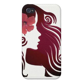 Coques iPhone 4/4S Rétro cas rose Girly de téléphone de fleur. Style