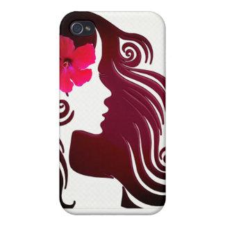 Coques iPhone 4 Rétro cas rose Girly frais de téléphone de fleur