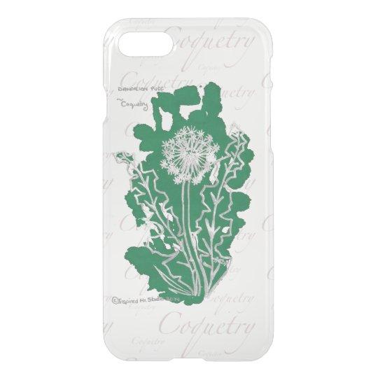 Coquetry, Dandelion Floriography Inkblot iPhone 7 Case