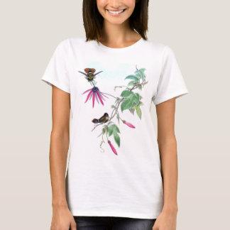 Coquette Hummingbirds Bird Wildlife Flower T Shirt