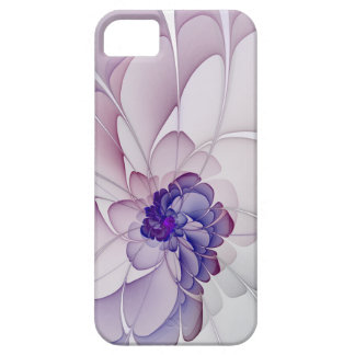 Coquette Purple Abstract Floral Case For The iPhone 5