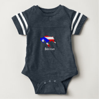 coqui flag baby bodysuit