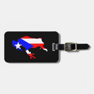 coqui flag luggage tag