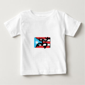 Coqui on the Flag of Puerto Rico Baby T-Shirt
