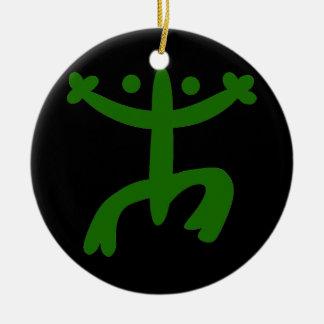 Coqui Round Ceramic Ornament