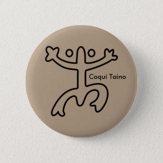 Coquí Taino Button