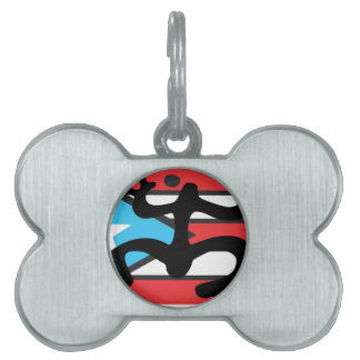Coqui taíno on flag of Puerto Rico Pet ID Tags