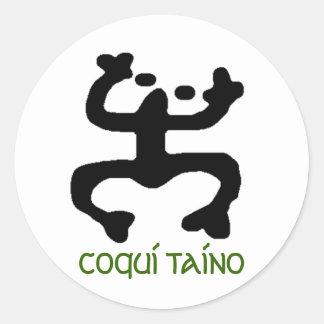 Coqui Taino Stikers Classic Round Sticker