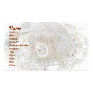 Coquillage à marée basse coordonnant des articles cartes de visite personnelles