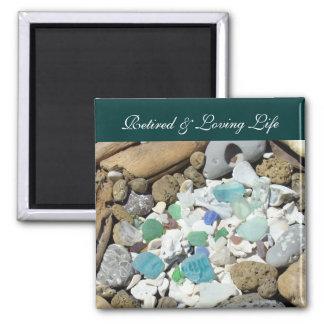 Coquillage retiré et affectueux de magnet de plage aimants