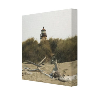 Coquille River Lighthouse, View from the Beach Canvas Print