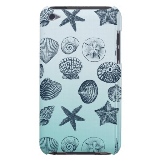 Coquilles bleues coque barely there iPod