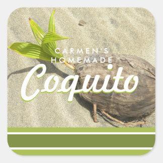 Coquito Coconut Square Sticker