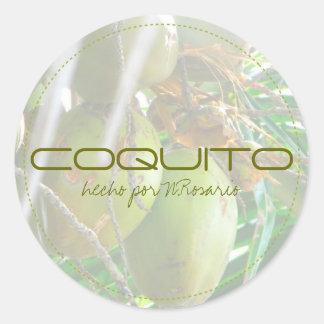 Coquito Round Sticker