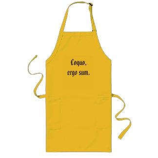 Coquo, ergo sum (I cook, therefore I am) Apron