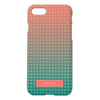 Corail abstrait et mélange de couleur de Teal Coque iPhone 7