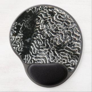 Corail noir et blanc je soustrais la photo de tapis de souris avec gel