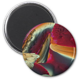 Coral Abstract 2 Inch Round Magnet