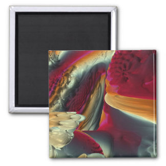 Coral Abstract Square Magnet