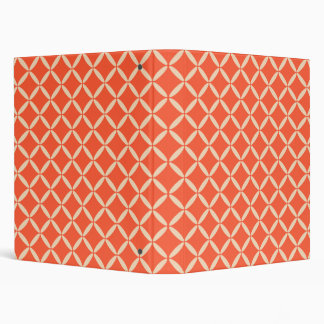 Coral and Cream Pattern Binder