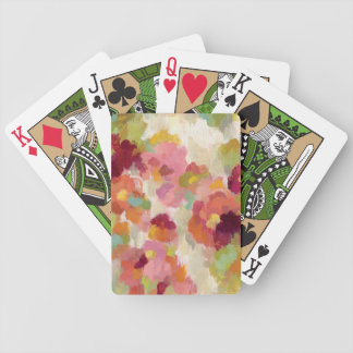 Coral and Emerald Garden Bicycle Playing Cards