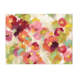 Coral and Emerald Garden Canvas Print