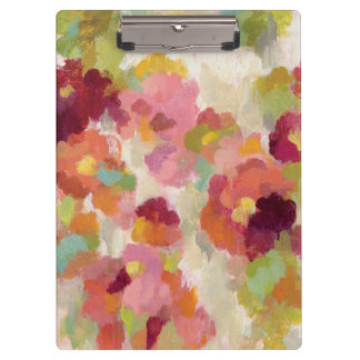 Coral and Emerald Garden Clipboard