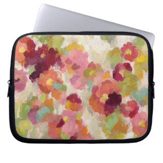 Coral and Emerald Garden Laptop Sleeve