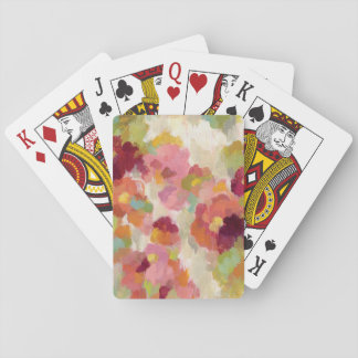 Coral and Emerald Garden Playing Cards