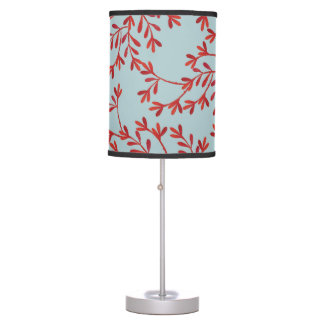 Coral and Ocean Blue Lamp Shade