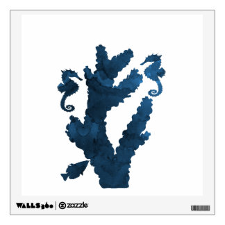Coral and seahorses wall decal