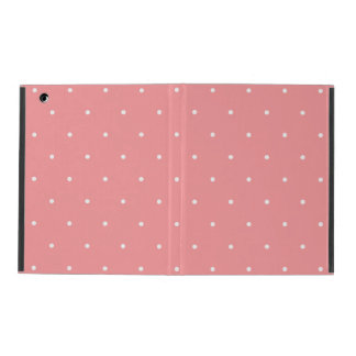 Coral and White Polka Dot Spots iPad Folio Case