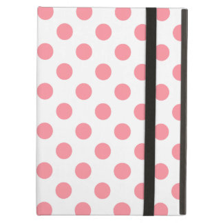Coral and white polka dots iPad air cases