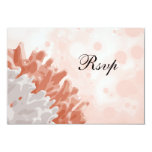"Coral and White Reef 3.5"" X 5"" Invitation Card"